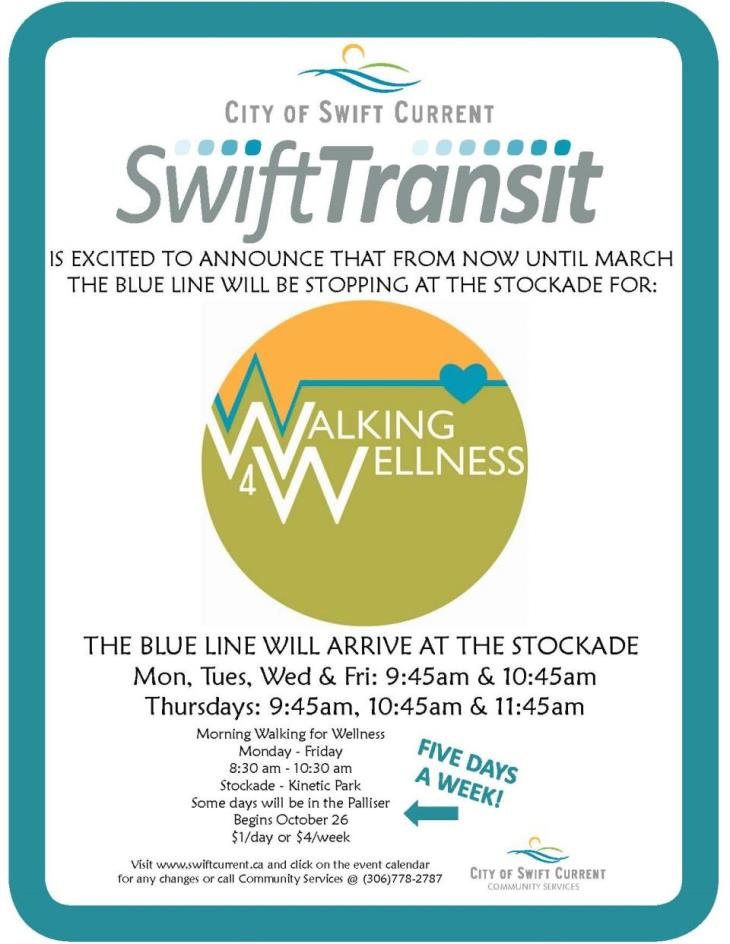 Walking for Wellness Transit Poster