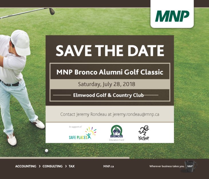1125-18 ABS MNP Bronco Alumni Golf Tournament - save the date