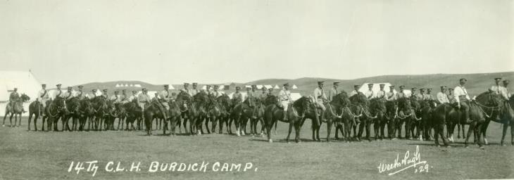 14th Canadian Light Horse mounted