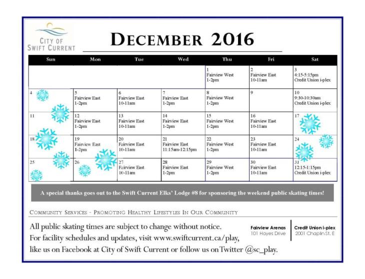 Events Calendar Swift Current