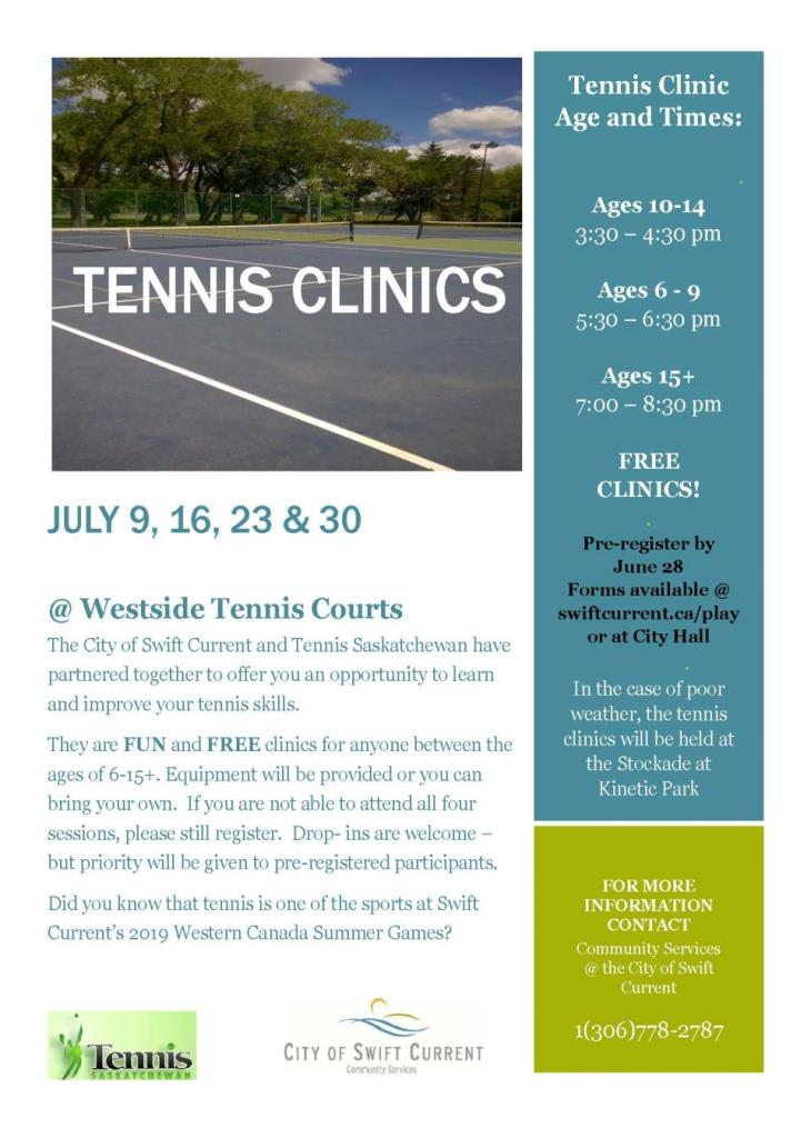 tennis clinic poster 2019